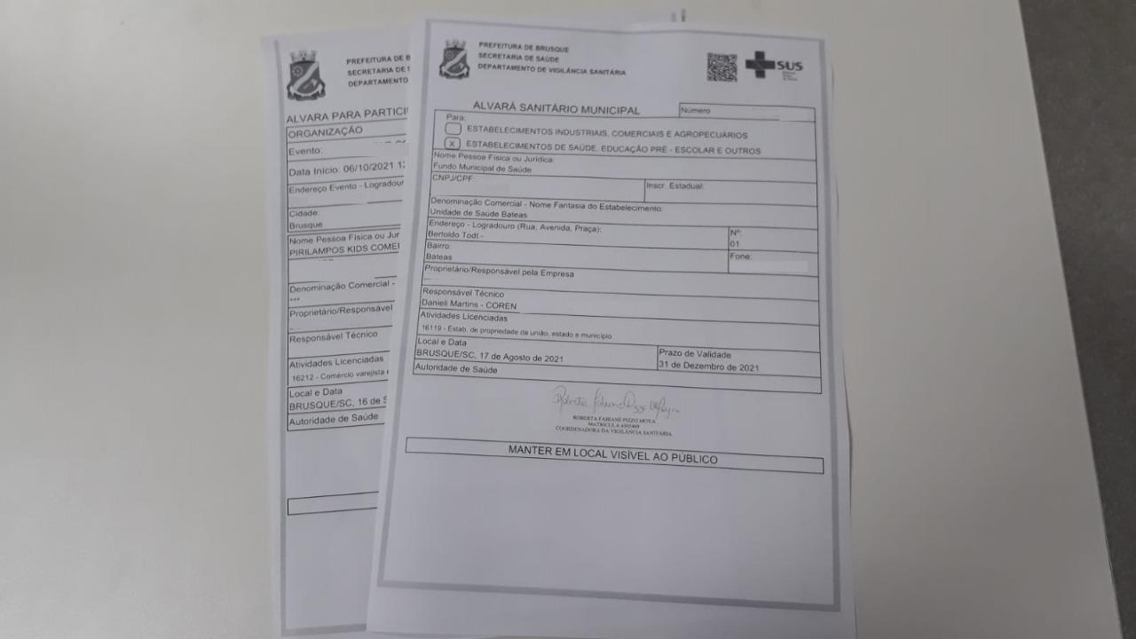 A emissão de alvarás sanitários em Brusque ficou mais rápida
