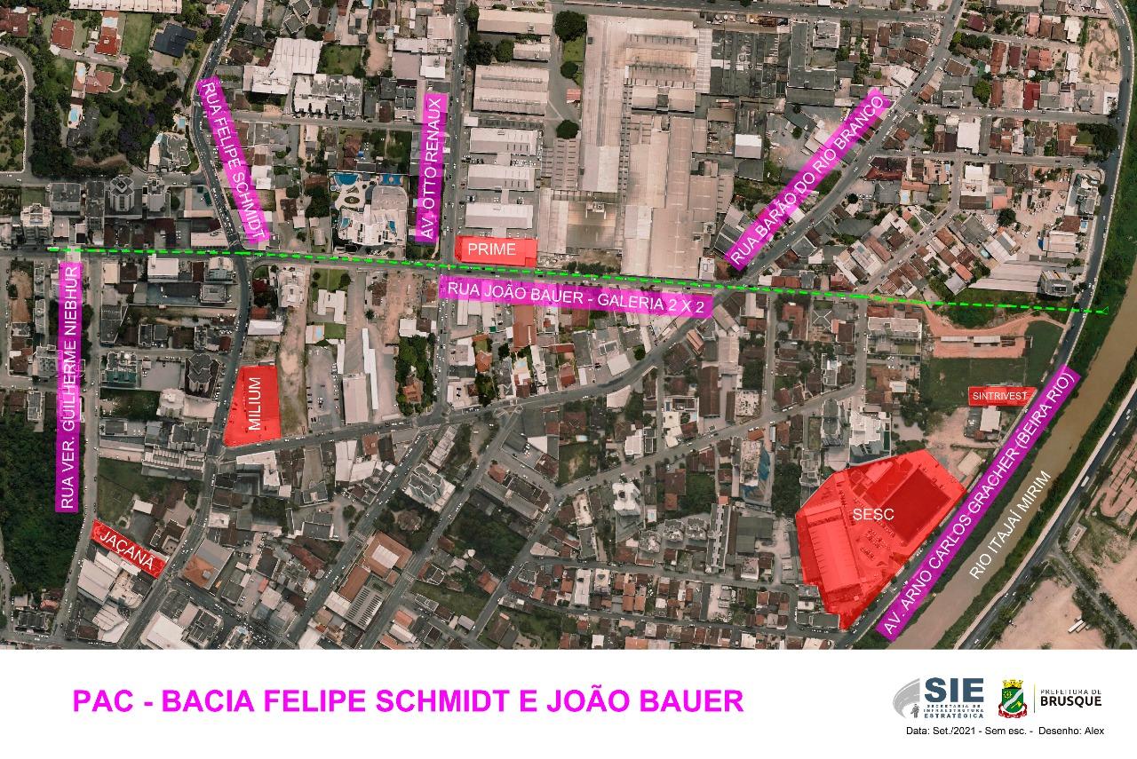 Assinada a ordem de serviço para Macrodrenagem das ruas João Bauer e Felipe Schmidt