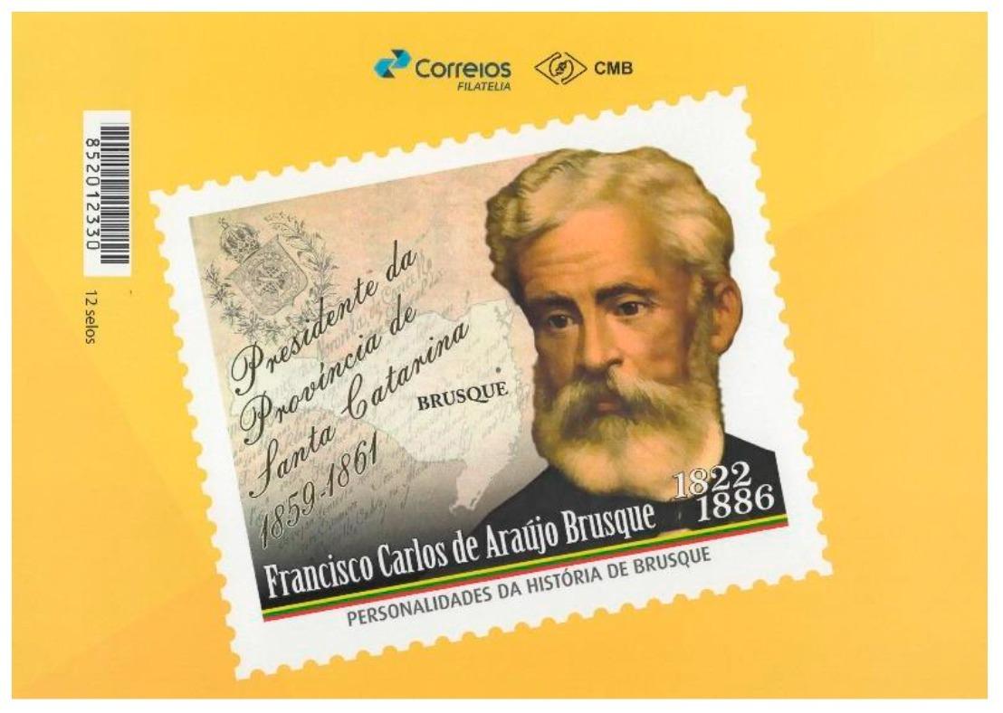Clube Filatélico Brusquense realiza homenagem a Francisco Carlos de Araújo Brusque