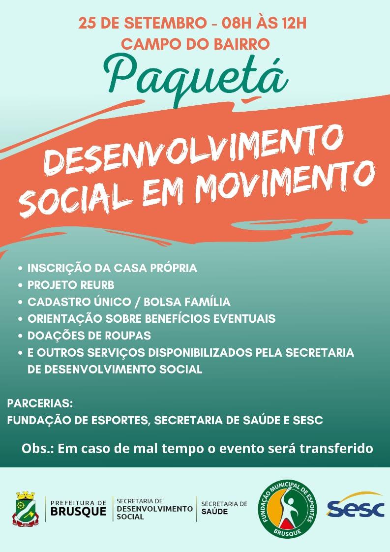 Edição do Desenvolvimento Social em Movimento ocorre no Paquetá