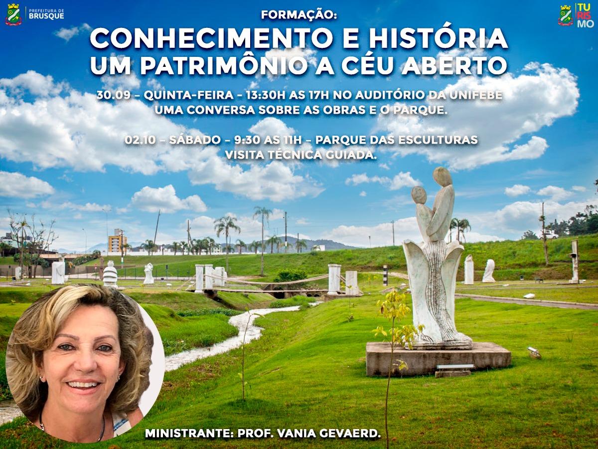 Formação aborda história das obras do Parque das Esculturas