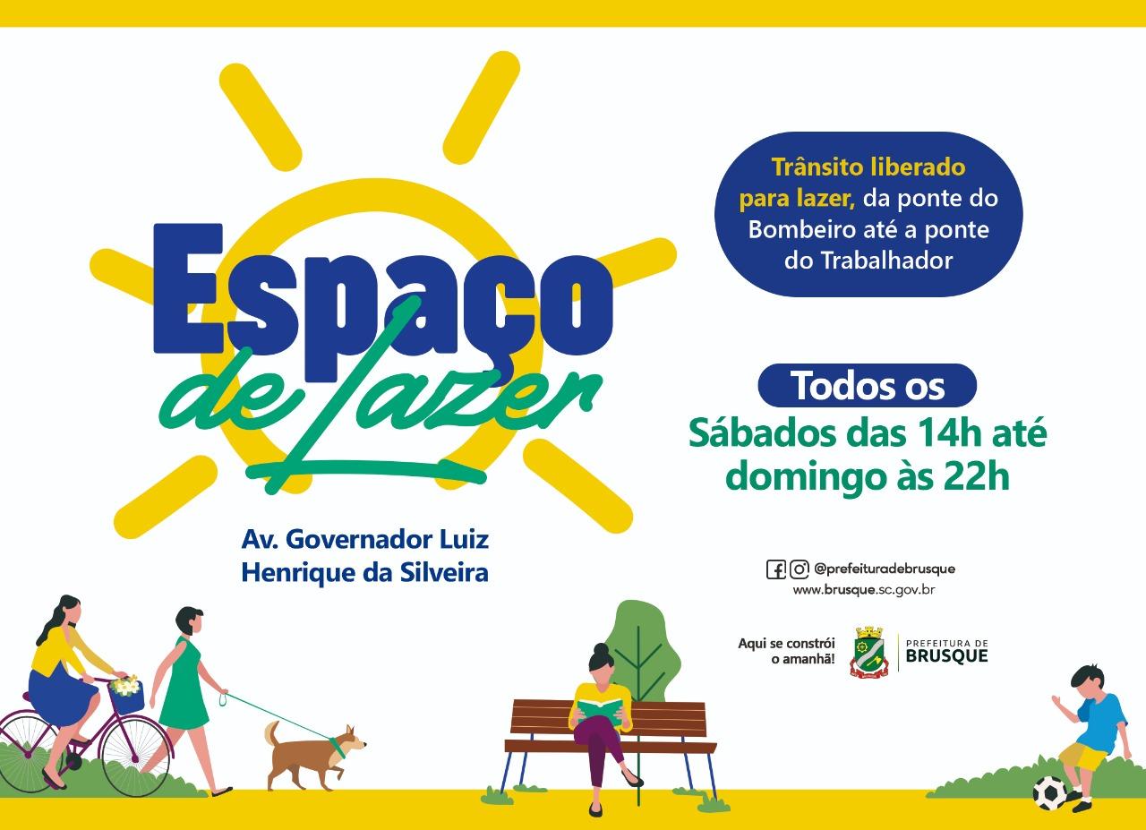 Avenida Governador Luiz Henrique da Silveira estará disponível para atividades de lazer no final de semana