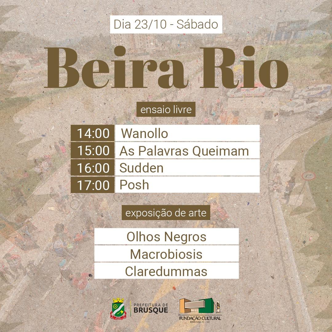 Fundação Cultural de Brusque traz para a Beira-Rio o Ensaio Livre